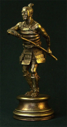 Bronze sculpture Old Ronin